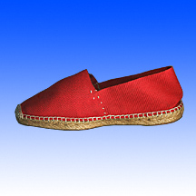 Closed toe flat wedge classic Espadrilles Made of Jute Soles and canvas