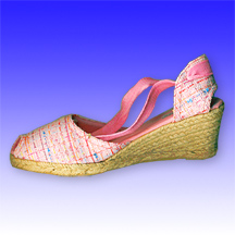 Moderate Wedge Spanish Espadrilles Shoes (Alpargata) Made of Jute Rope Soles