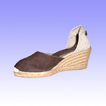 Closed Toe Leather Espadrilles  Made of Jute Wedge
